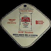 Vintage Dakota Maid Advertising Potholder - North Dakota Flour Mill and Elevator Co.
