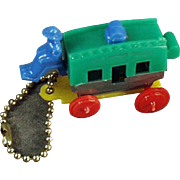 Vintage Dexterity Puzzle Key Chain - Miniature Stage Coach with Original Instructions
