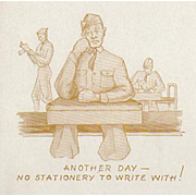 Vintage Advertising Ink Blotter - Ritter's Stationery with Soldier Image