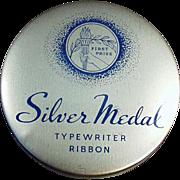 Vintage Typewriter Ribbon Tin - Stenno Silver Medal