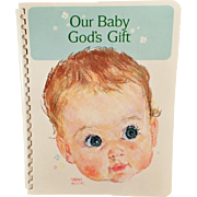 Vintage Baby Book – Our Baby God's Gift – 1966 Unused Baby's Record Book
