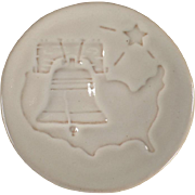 Vintage Frankoma Pottery - 1976 Christmas Card -  Bicentennial Tribute - White Sand Glaze