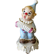 Vintage Night Light - Bisque Clown - Old Electric Lamp