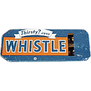Vintage Tin Whistle - Golden Orange Refreshment Whistle Soda Advertising