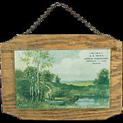 Vintage Advertising Print Behind Glass - Down in Old Kentucky