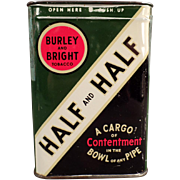 Vintage Tobacco Tin - Burley & Bright/Contentment Half and Half Tobacco Tin