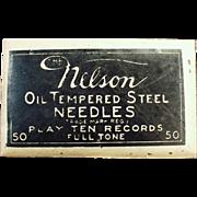 Vintage Steel Phonograph Needles - Nelson 50 - Unopened Package