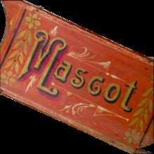 "Antique Hand Painted Clipper Sled - ""Mascot"" - Americana - Folk Art"