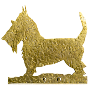 Scotty Dog Folk Art Doorstop - Solid Handcrafted Brass - Door Stop