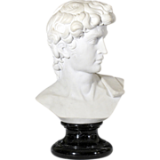 Classical Marble Bust of a Young Man after Michaelangelo