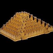 Folk Art Pyramid - Burnt Match Stick Platform - Matchstick Art - Prison Art - Americana