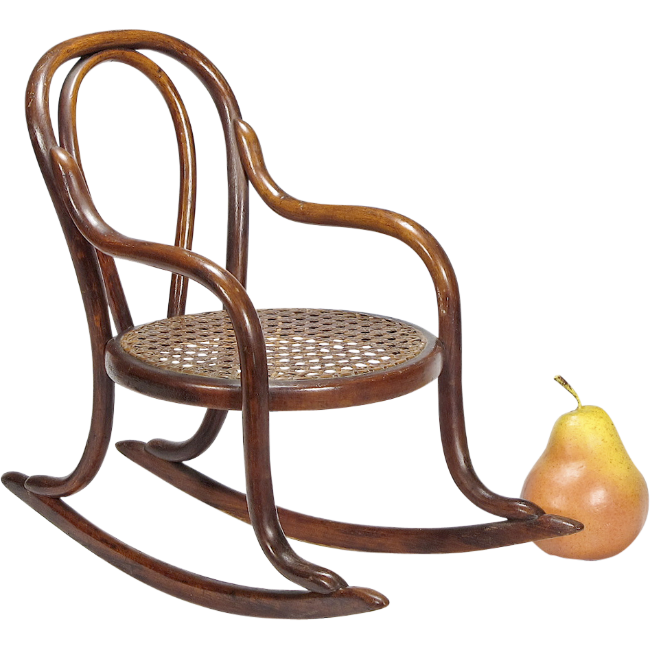 LAYAWAY - Antique Miniature Bentwood Rocker - Doll Furniture - Toy Chair