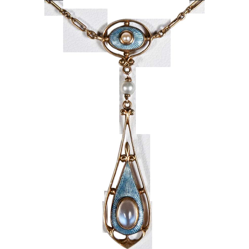 Lavaliere necklace