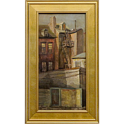 Philadelphia City Scape Oil on Canvas by Pennsylvania Artist Farris Woolston