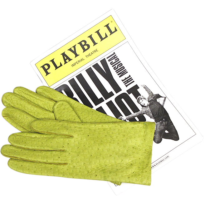 Leather Gloves - Chartreuse Peccary Pigskin by Van Raalte with Tags - NOS