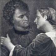 The Lovers - Antique Engraving after Giorgione (Giorgio Da Castelfranco) by Domenico Cunego from Gavin Hamilton's Schola Italica Picturae, 1773, London