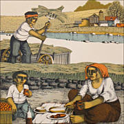 "Harvest Print - ""Lunch in the Field"" - Signed Numbered Print"