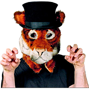 Tiger Mask with a Top Hat - Adult Size - Cosplay - Hand Tailored in the USA