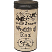Vintage Wedding Rice in Container - Original Graphics - Bridal