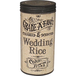 Vintage Wedding Rice in Container - Original Graphics