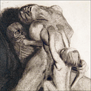Kathe Kollwitz Etching with Dry Point, Aqua Tint, and Soft-Ground 'Tod und Frau' (Death and the Woman)