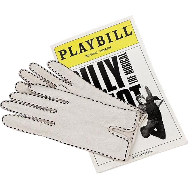Leather Gloves - White Pigskin with Black Topstitching by Miss Aris
