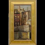 Farris Woolston - Oil on Canvas - Philadelphia City Scape by Pennsylvania Artist -
