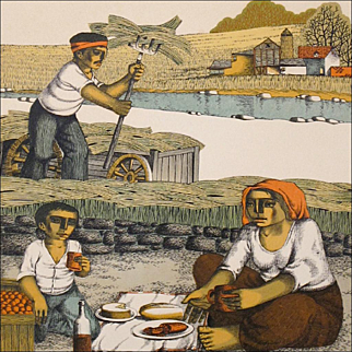 Harvest Print - 'Lunch in the Field' - Signed and Numbered