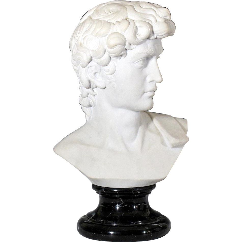 Classical Marble Bust of David after Michelangelo