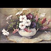 Eleanor Rogers Copeland - Still Life Watercolor Painting - Petunias