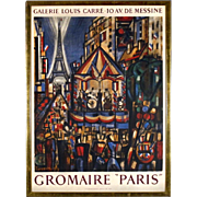 "Marcel Gromaire - Exhibition Poster for ""Paris"" show at Gallerie Louis Carré in Celebration of Bastille Day"