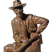 Mike McFarland - Bronze Sculpture of Del E Webb Holding His Plans for Sun City, Arizona by Listed Artist
