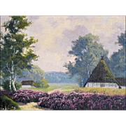 Dr. C Presént - Oil Painting of a Rural Landscape