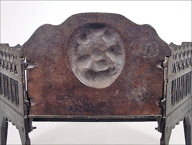 Roll over Large image to magnify, click Large image to zoom - Antique Cast Iron Fireplace Grate / Insert For Wood Or Coal W