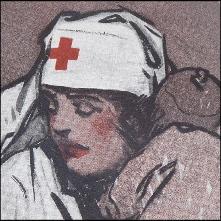 "Gordon Grant WW1 Poster ""The Comforter' 1918 - American Red Cross Nurse Recruiting Poster"
