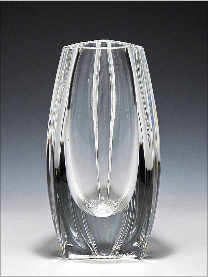 signed baccarat crystal bouton d 39 or vase from oh on ruby lane. Black Bedroom Furniture Sets. Home Design Ideas