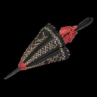 Rare 19th C Umbrella Pen Wipe - Folk Art - Americana - Victorian