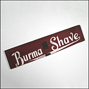 Burma Shave Sign - Folk Art Sign - Americana - Primitive - Advertising