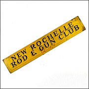 Vintage Folk Art Sign - Americana - 'New Rochelle Rod and Gun Club'