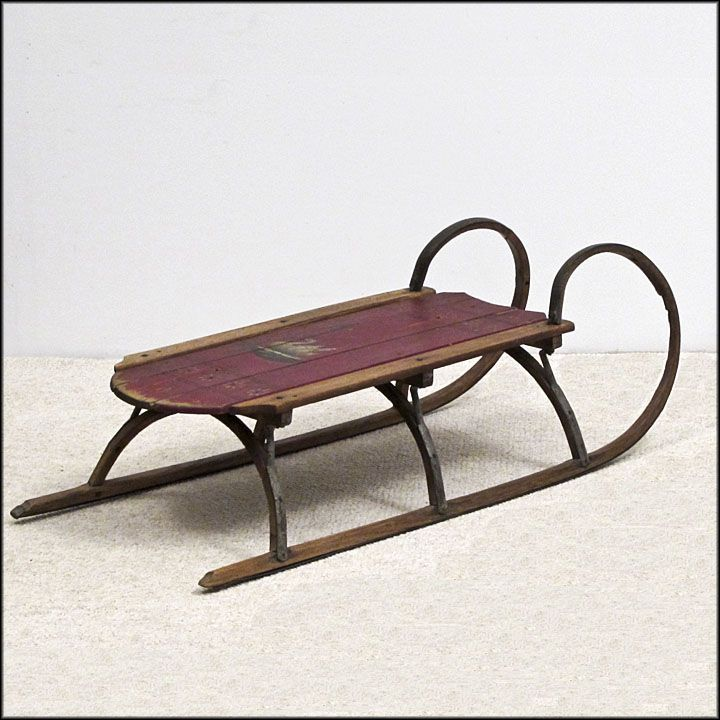 Old Fashioned Rustic Wood Sled - Table and Shelf Sitters - Home Decor