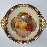 Hand Painted Pickard 'Fruit Panels' Bowl, signed VOKRAL