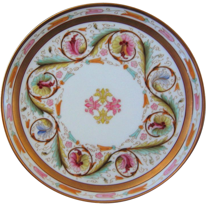 Pickard Hand Painted FLORENTINE Plate, Artist Signed EFDON