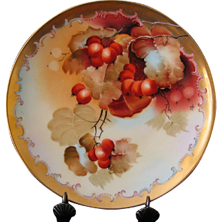 Pickard Hand Painted Currants Plate, Artist NESSY