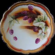 Pickard Hand Painted Plate, Blackberries, Artist Signed BEITLER