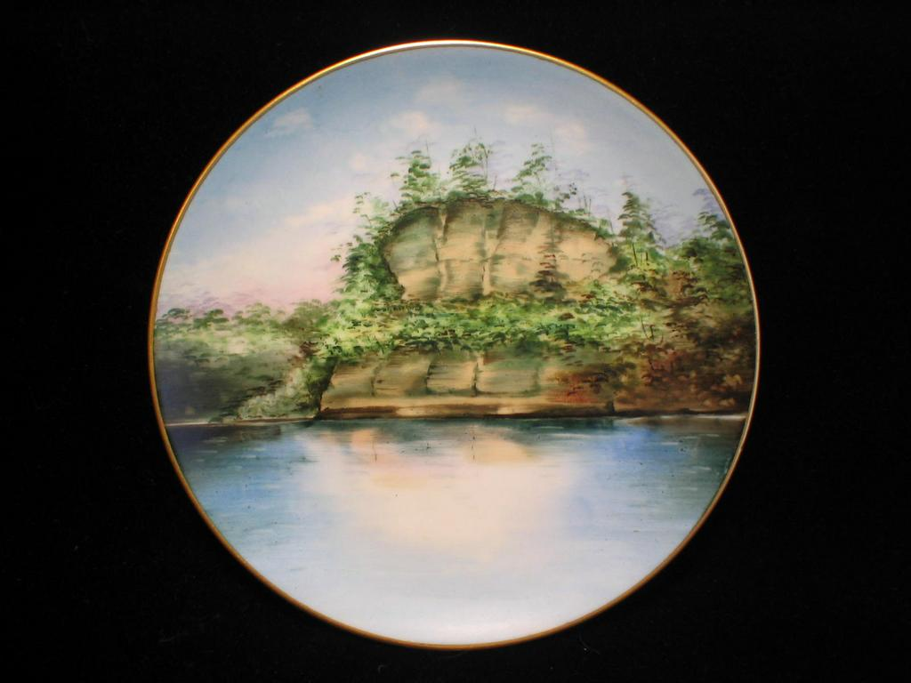 Stouffer Scenic Handpainted Plate-  Starved Rock Illinois State Park