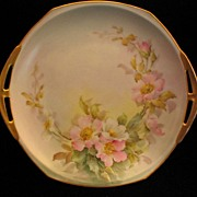 Hand Painted WILD ROSE Nappy or Candy Dish- Artist Signed SHERRATT
