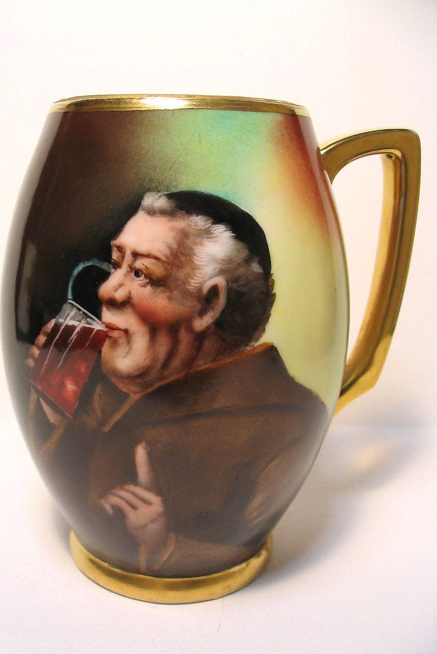 Hand Painted Donath Studio Monk Mug or Tankard- Artist Signed A. HEIDRICH