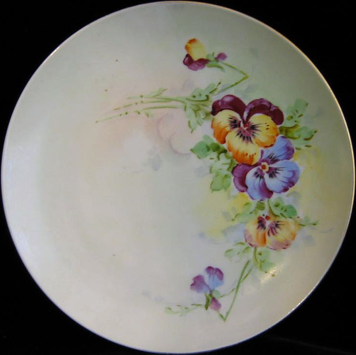 Hand Painted Stouffer Pansy Plate