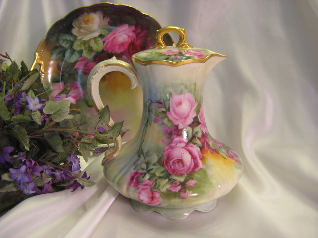 tea set vintage roses wallpaper - photo #31