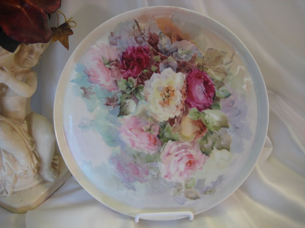 Quot Gorgeous Victorian Tea Roses Quot Antique Limoges Vintage